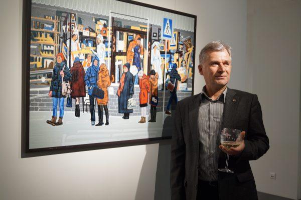 Открытие выставки Виктора Рогачева